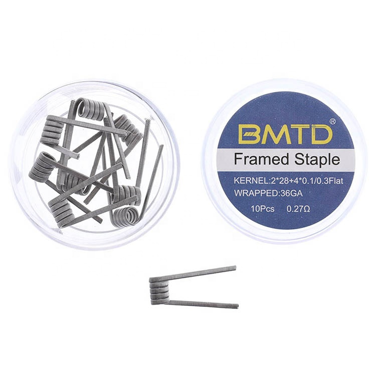 Resistance vape wire machine produce NI80 coil prebuilt Frame Staple coil wire vape