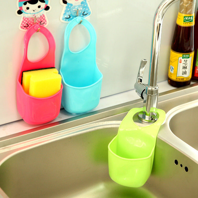 hot creative cuisine vier salle de bain suspendu passoire organisateur de stockage ponge. Black Bedroom Furniture Sets. Home Design Ideas