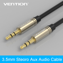 Vention 3.5mm Aux Cable Jack to Jack Gold Plated 90 Degree Right Angle Audio Cable for Car for iphone headphones