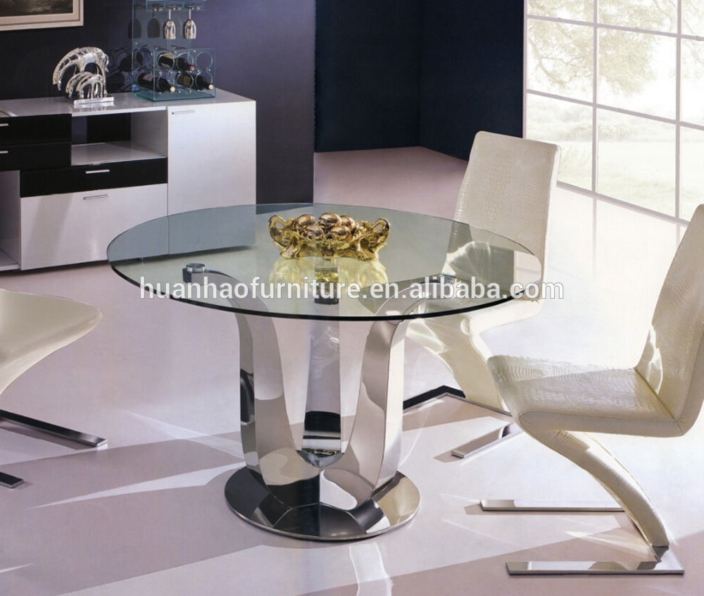 Dh 9 High Quality 9 Seater Round Glass Dining Table   Buy Glass ...
