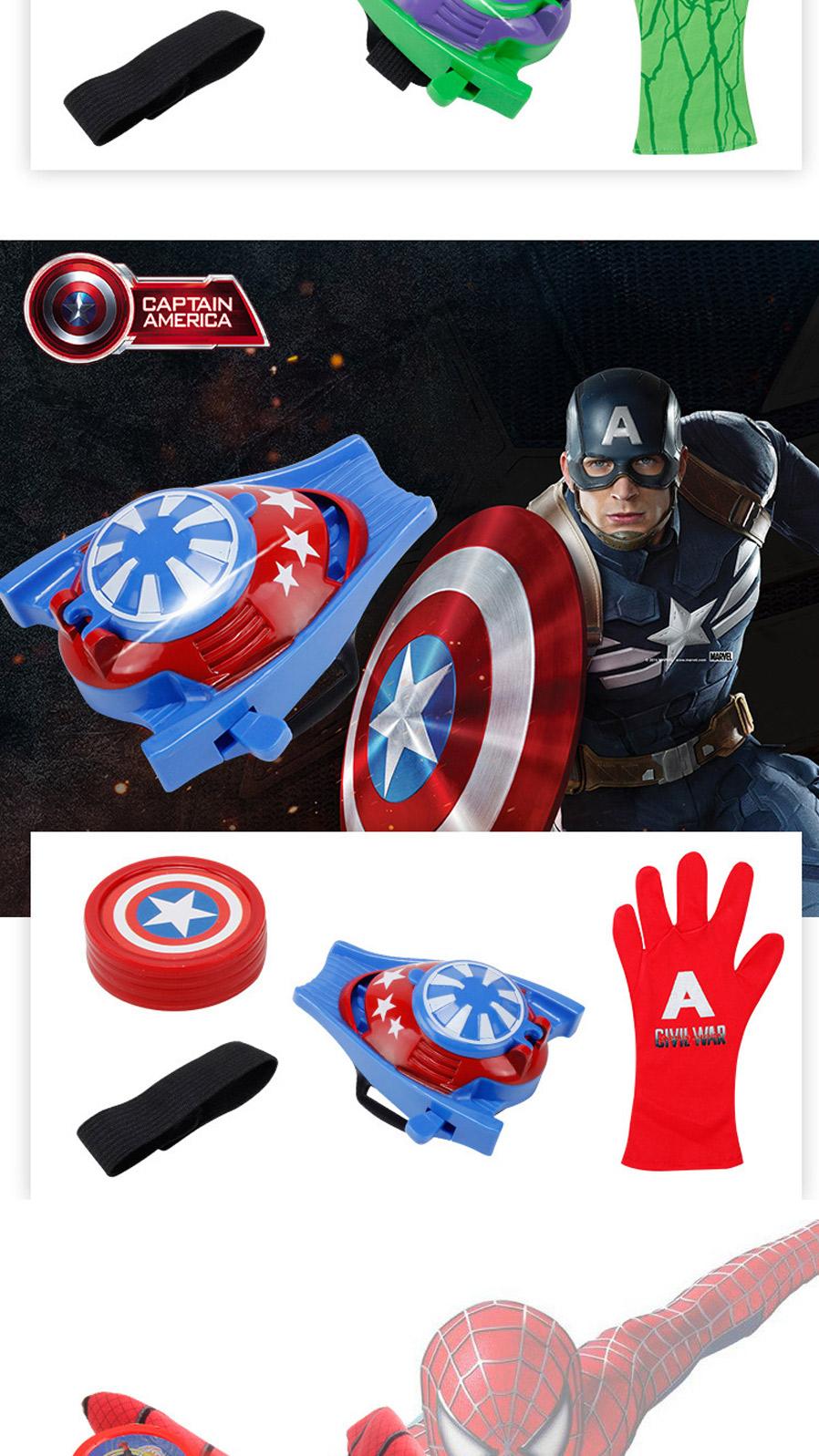 Toys & Hobbies Hot Marvel Avengers Super Heroes Glove Laucher Props Spiderman Batman Hulk Iron Man Cosplay Cool Gift Glove Launcher For Kid