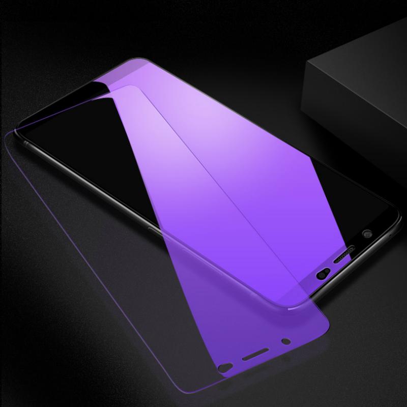 JGKK Anti-Blue Ray Tempered Glass For VIVO V7 Plus V7Plus Y75 Y79 2 5D  Purple Light Screen Protector Film For VIVO V7 Y79 Glass