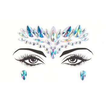 Eco-friendly Diamond Face Sticker Rhinestone Stickers Body Gems Temporary Tattoo Sticker