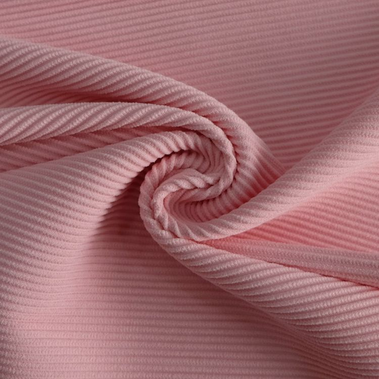 Stretch ottoman ribbed polyamide elastane knit fabric for swimwear