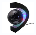 Hot Sale LED Light C shape Decoration Magnetic Levitation Floating World Map Globe Free Shipping