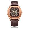 Rose case, brown dial, L