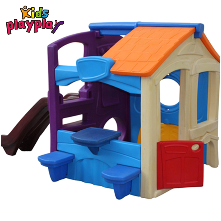 Color Kindergarten Playground Toys Children Plastic Play House With Slide