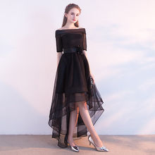 Платья для выпускного вечера It's Yiiya 2018, асимметричные платья для выпускного вечера с коротким рукавом и вырезом лодочкой для девочек, вечерн...(Китай)