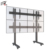 The Modern Furniture Aluminum Flat Screen Video Wall Cart For Quad Screens