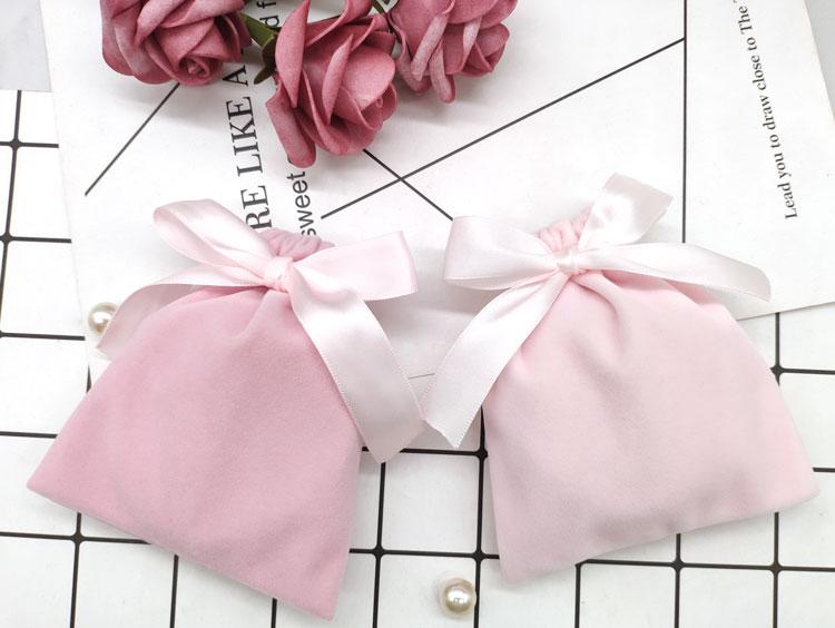 Оптовая продажа, бархатный мешочек с лентой, бархатный мешочек для ювелирных изделий на шнурке