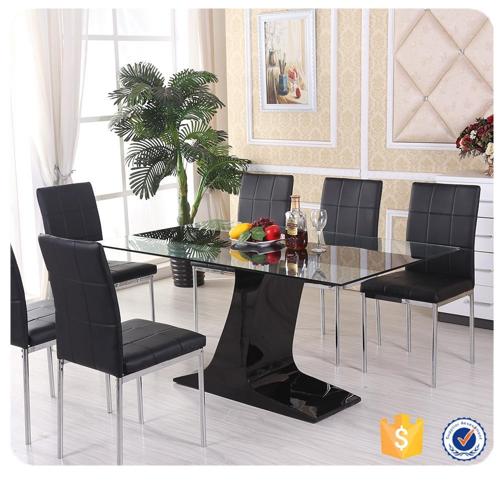 Cheap Modern Metal Glass Dining Table Dining Set - Buy Dining