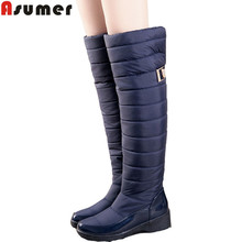 AISIMI 2015 new arrive keep warm snow boots fashion platform knee high winter boots for women shoes