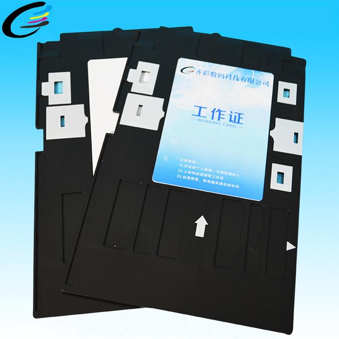 Горячий продавать! 80*120 мм пластиковый лоток удостоверение личности для R280 R285 R290 принтера