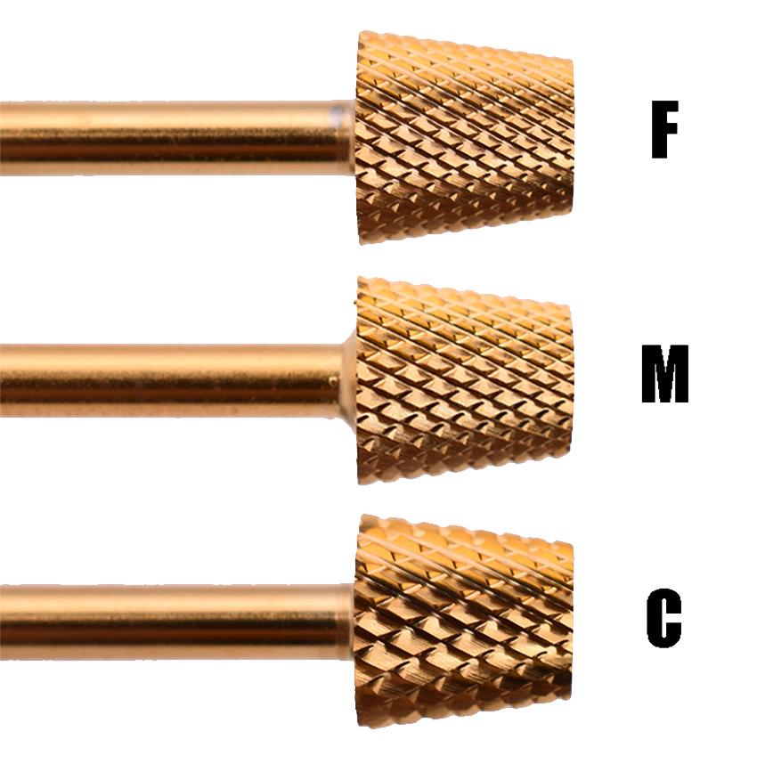 Фреза для маникюра, коническая фреза для наполнения ногтей, № 10001, хвостовик 3/32 дюйма, фреза для резки ногтей