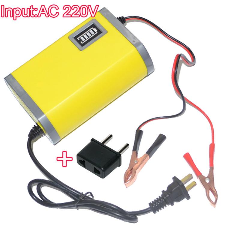 220v input 6a 12v car battery charger motorcycle charger 12v lead acid charger eu plug free. Black Bedroom Furniture Sets. Home Design Ideas