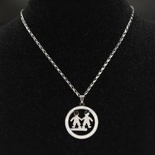 Ожерелья из нержавеющей стали для мальчиков и девочек, ювелирные украшения серебряного цвета, ожерелья и подвески, ювелирные изделия(Китай)