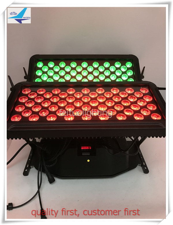stage city color lighting 120x18W Waterproof DMX LED Wall Washer Light Double Heads