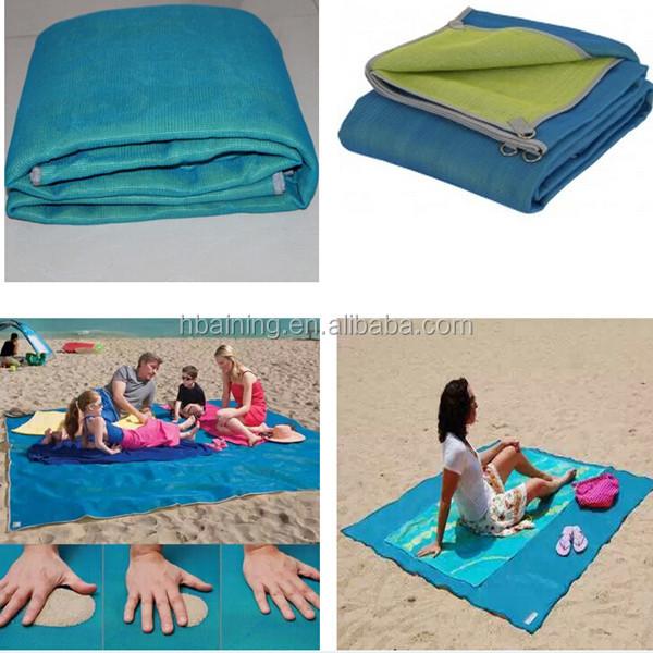 grande pliable sandless natte de plage de sable gratuit pour natte de plage matelas de camoing. Black Bedroom Furniture Sets. Home Design Ideas