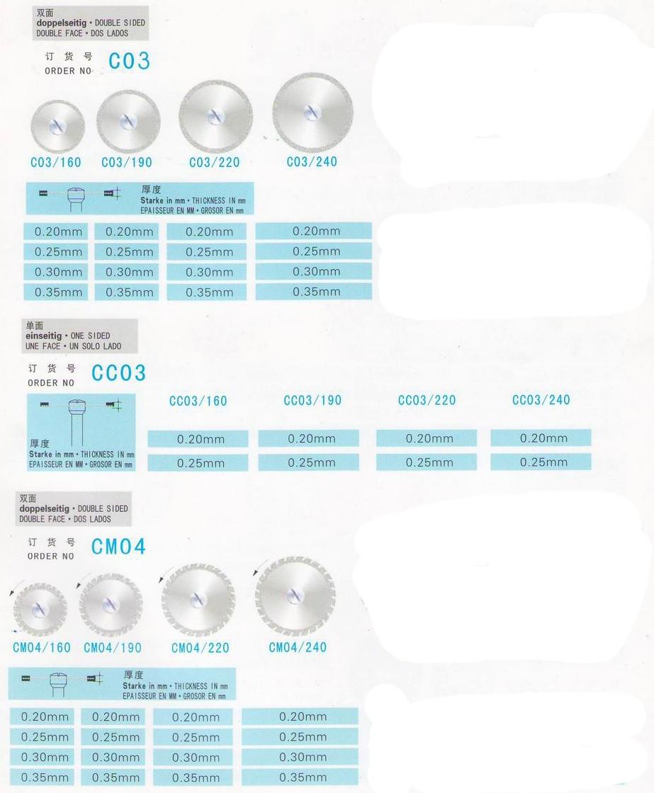 TR-C226-S Diameter 13-24mm Diamond Disc Disk Wheel for DENTAL Cutting,diamond cutting discs