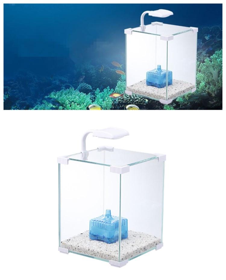 Black Coffee Table Fish Tank: Eco-friendly Cube Mini Coffee Table Aquarium Fish Tank