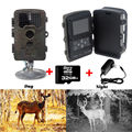 Free Shipping 32GB Card H801W 12MP Infrared IR Digital Trail Game Hunting Camera 6V 2A Adaptor