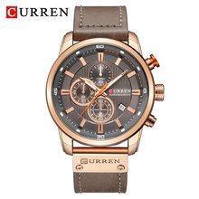Часы Reloj CURREN 8291 мужские, спортивные, водонепроницаемые, кварцевые, с кожаным ремешком(Китай)