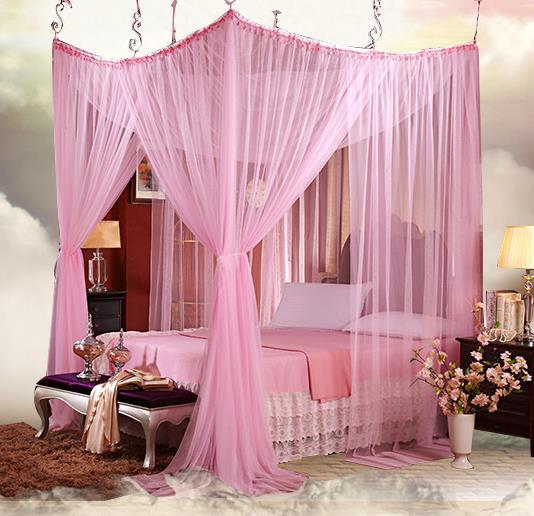 Aliexpress Com Buy 4 8 Four Corner Romantic Lace Canopy