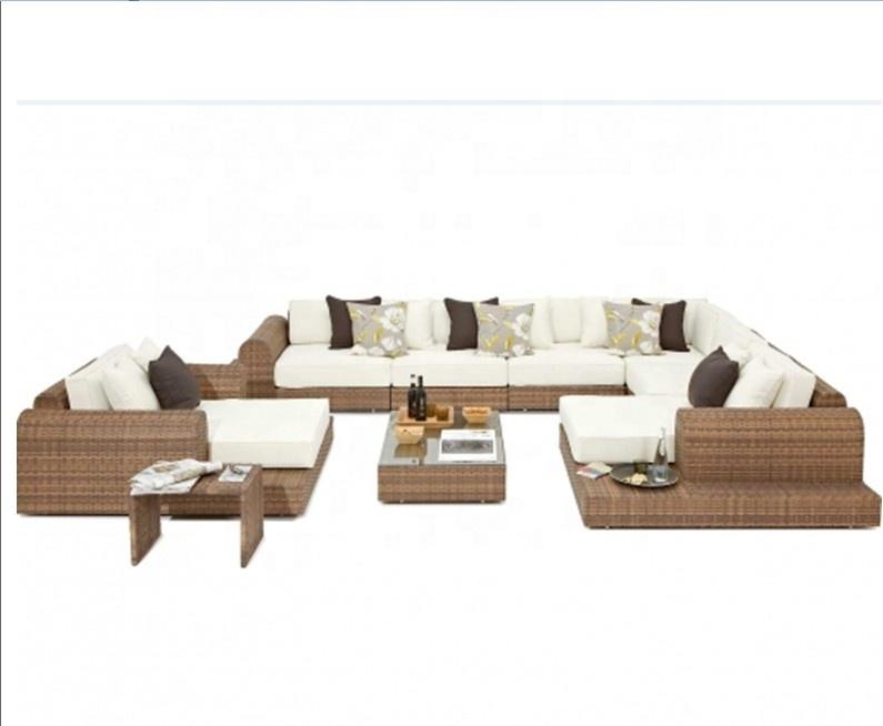 Уличный ротанговый садовый большой диван в американском стиле, клубный стул, мебель