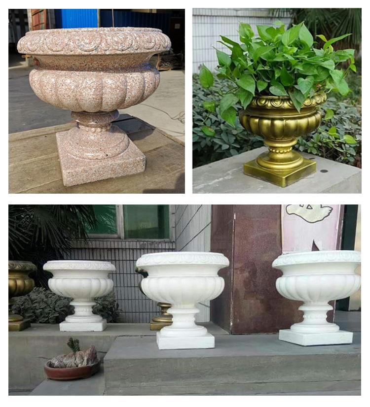 Garden decoration european flower pot plastic molds