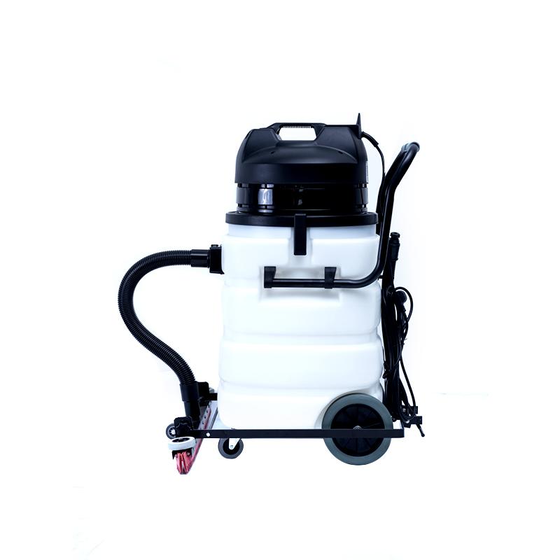 Промышленный пылесос для сухой и влажной уборки с пластиковым баком 90 л и сертификатом