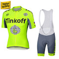 100 Polyester Short Sleeve Cycling Jerseys Quick Dry Pro Team Summer Cycling Clothing Tinkoff 2016 Saxo
