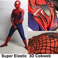 Movie Coser Super Quality Custom Made 3D Cobwebs Amazing Spider Man 2 Cosplay Costume Spiderman Costume