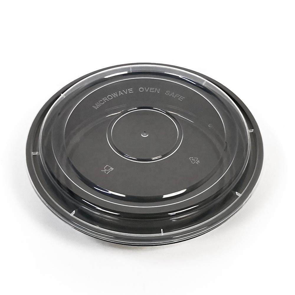Одноразовый пластиковый пищевой контейнер для микроволновой печи, 48 Унций, круглый контейнер, пластиковая пищевая миска с крышкой