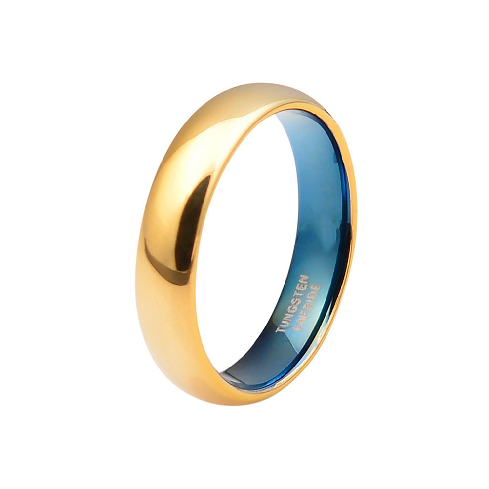Rose Gold Wedding Band 18k Rose Gold Ring Unisex Wedding Band 2mm Engagement Band Polished 18k Rose Gold Tungsten Band Classic Domed Ring