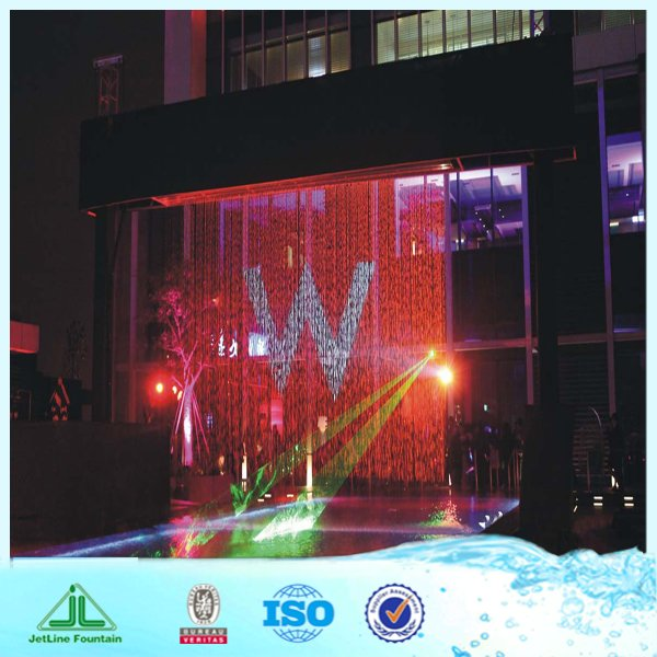 decorative glass water fountain, with digital logo or light, digital water fountain