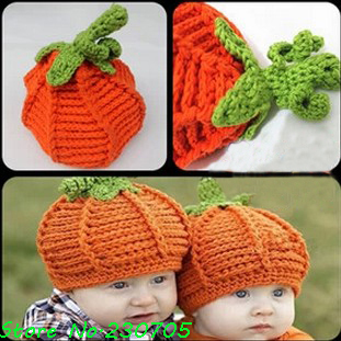 Children-s-Clothing-Baby-Halloween-Pumpkin-Hat-Knitted-Crochet-Infant ...