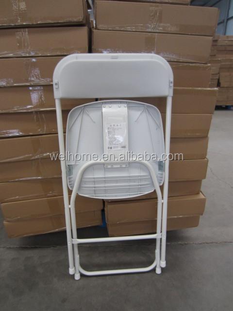 Белый складной пластиковый свадебный стул