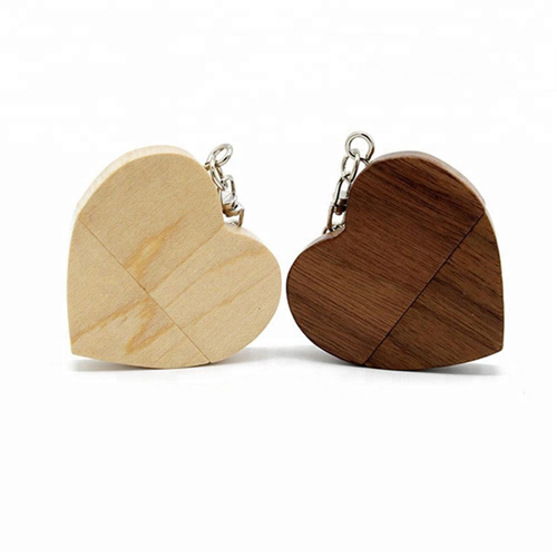 Wooden heart shaped USB Flash Drive Memory Stick 8gb 16gb 32gb with Customized Logo - USBSKY | USBSKY.NET