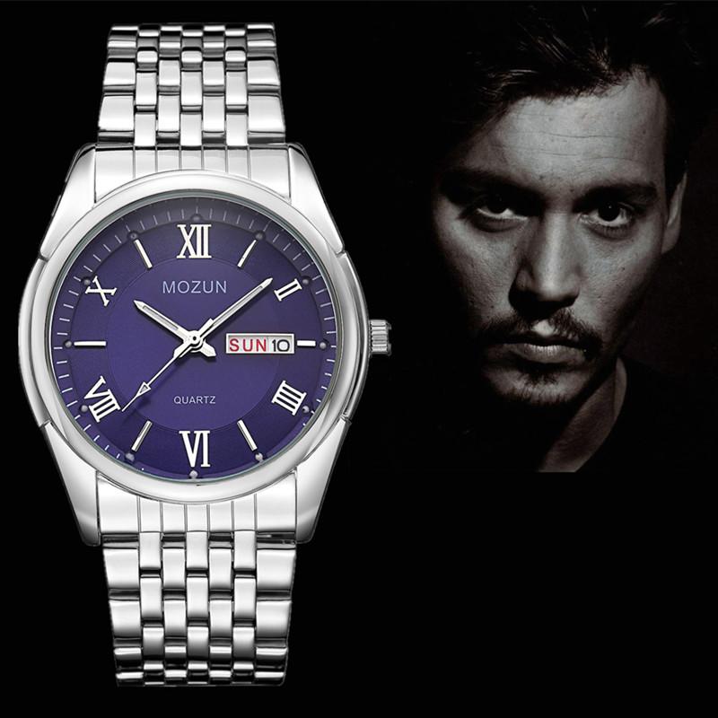 Новые Часы Мужчины Двойной Дата Мода Часы Кварцевые Мужские Часы Лучший Бренд Наручные Часы Мужчины Relogio Masculino Reloj Hombre Orologio Uomo