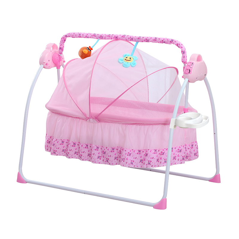 Роскошная детская кровать, многофункциональная Автоматическая кроватка-качели