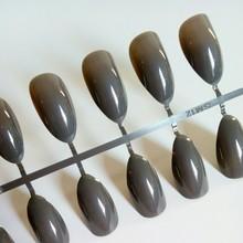 24 шт конфетные небесно-Голубые короткие накладные ногти-стилеты для ногтей остроконечные накладные ногти из акрила Сделай Сам Нейл-арт для ...(Китай)