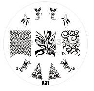 2015 new A Series A31 Nail Art Polish DIY Stamping Plates Image Templates Nail Stamp Stencil