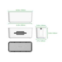 NTON power RMB жесткий пластиковый настольный органайзер кабельный контейнер для намотки чехол блок питания коробка для хранения и пылезащитная ...(Китай)