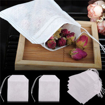 Teabags Empty Scented Tea Bags with String Heal Seal Filter Paper