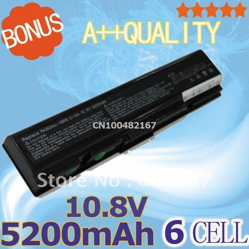 5200 мАч аккумулятор ноутбука PA3534U-1BRS PA3535U-1BAS для Toshiba A505 Pro L550 L450 L300 A200 A210 A350 L500