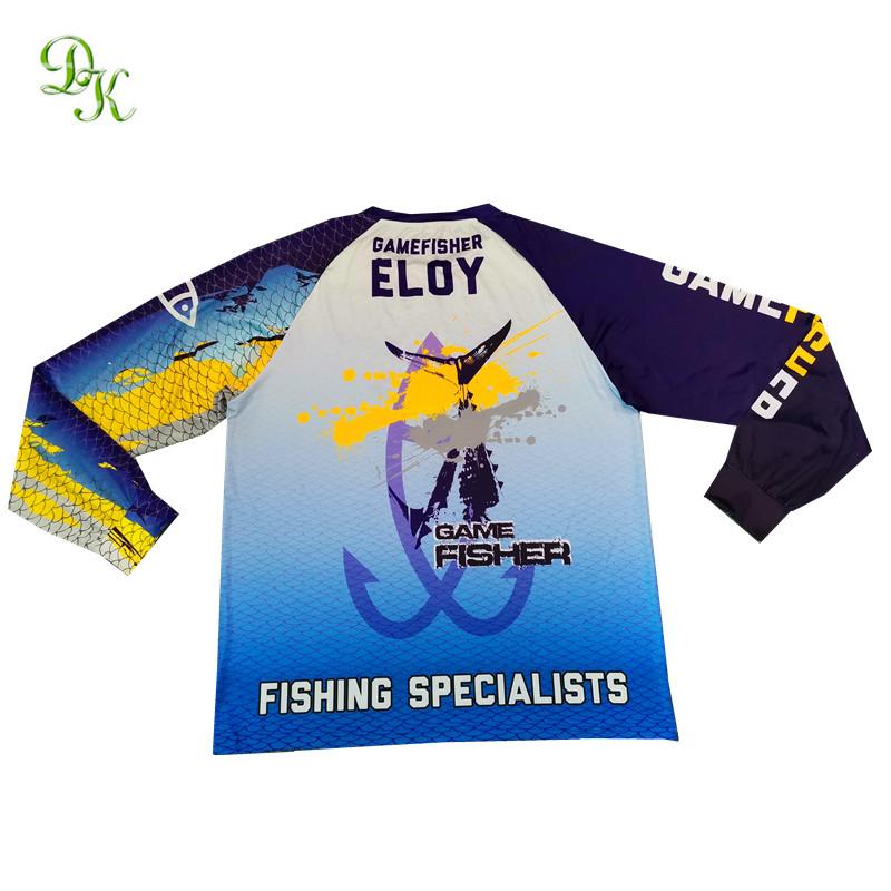 Оптовая продажа рубашек для рыбалки с сублимационным принтером