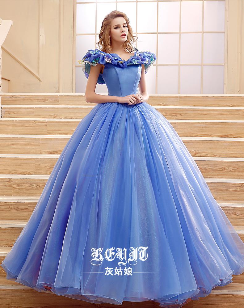 a1405822738 2015 NEW Movie Sandy Princess Cinderella Princess Dress Cosplay Costume