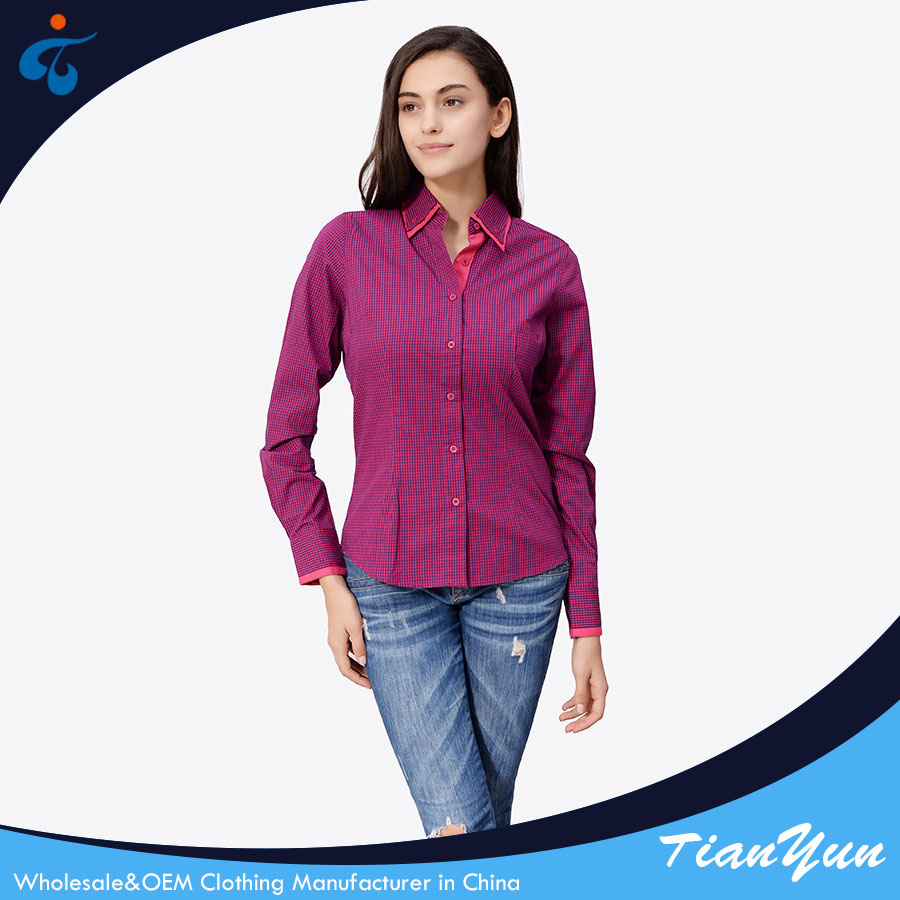 Hot selling factory supplier comfortable formal uniform blouse designs for office