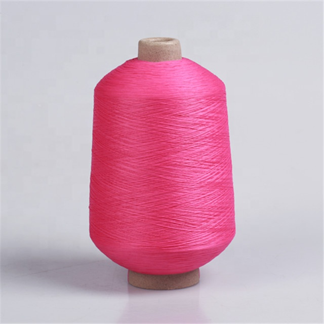 High quality 100% polyester hank dyed stretch yarn for sock knitting