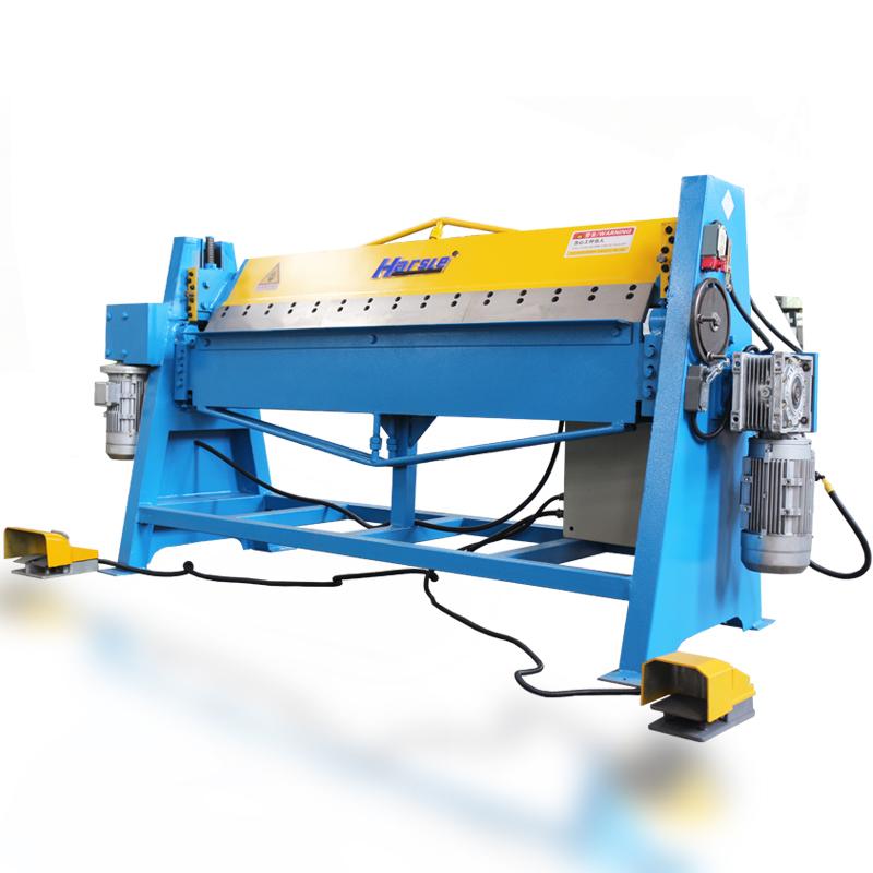 HARSLE Powerful Electric Door Steel Metal Folding Stable Machine for GI Plate Bending